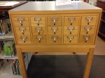 The catalog is worth $1200, and we are asking a minimum of $400.  It is solid oak, 30 drawers, and excellent condition.